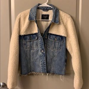 Sherpa and jean jacket